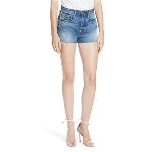 NWT GRLFRND Cindy High Rise Shorts Turn Blue 29